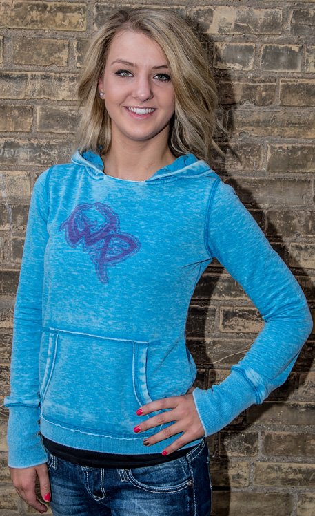 Wildlife Pursuit Blue Burnout Hooded Sweatshirt with Blue Logo