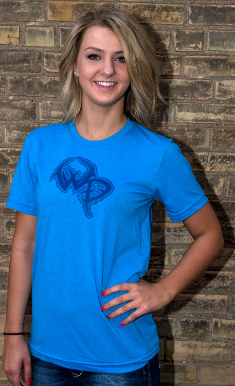 Wildlife Pursuit Blue Cotton T-Shirt with Blue Logo